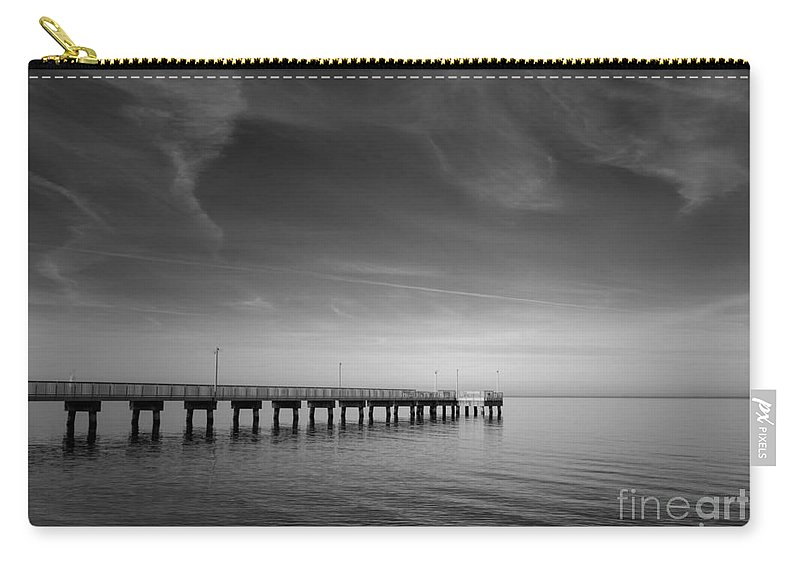 Art Carry-all Pouch featuring the photograph End Of The Pier Landscape Photograph by Melissa Fague