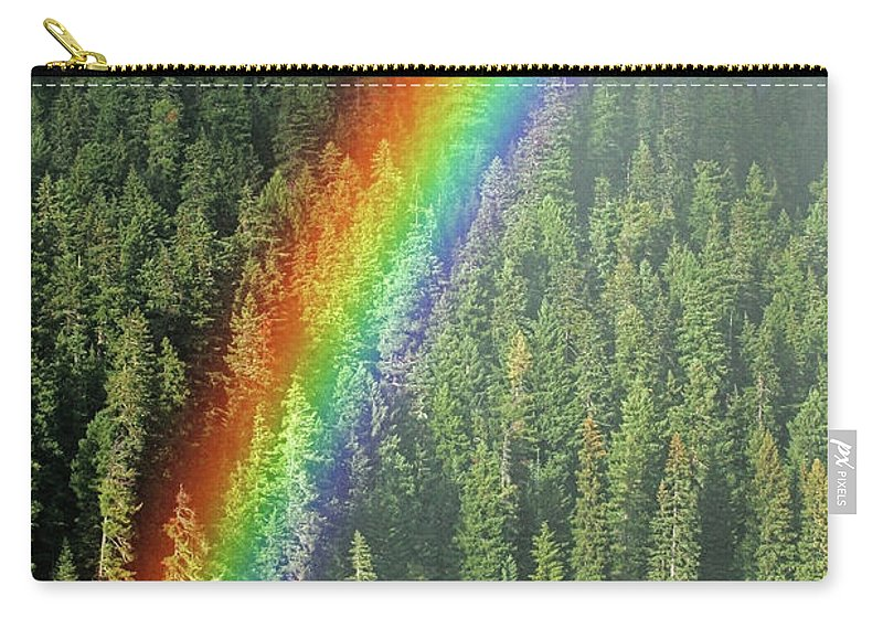 Landscape Carry-all Pouch featuring the photograph End Of The Rainbow by Randall Ingalls