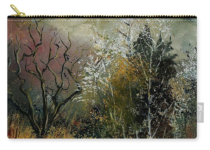 River Carry-all Pouch featuring the painting End Of Winter by Pol Ledent