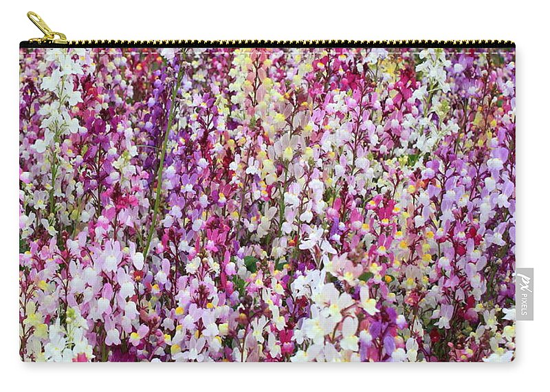 Colorful Flowers Carry-all Pouch featuring the photograph Endless Field Of Flowers by Carol Groenen
