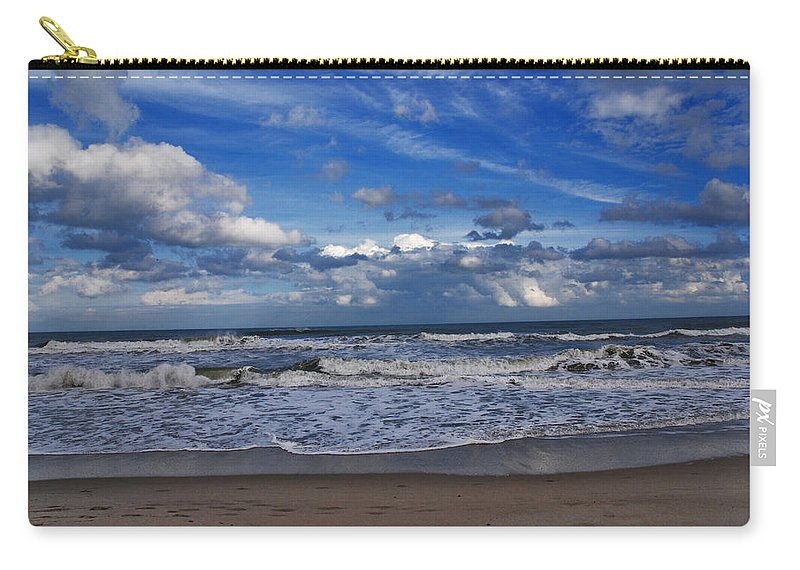 Ocean Carry-all Pouch featuring the photograph Endless Ocean by Susanne Van Hulst