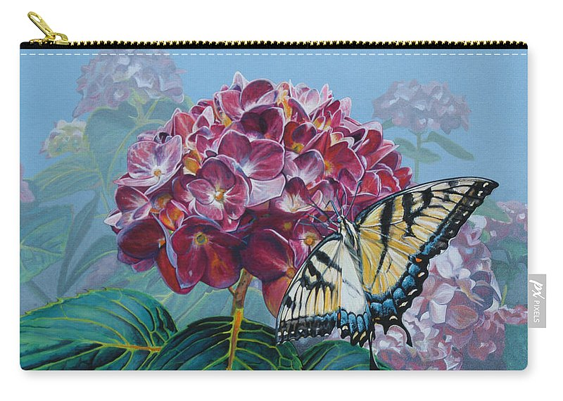 Original Art Carry-all Pouch featuring the painting Endless Summer by Amanda Hughes