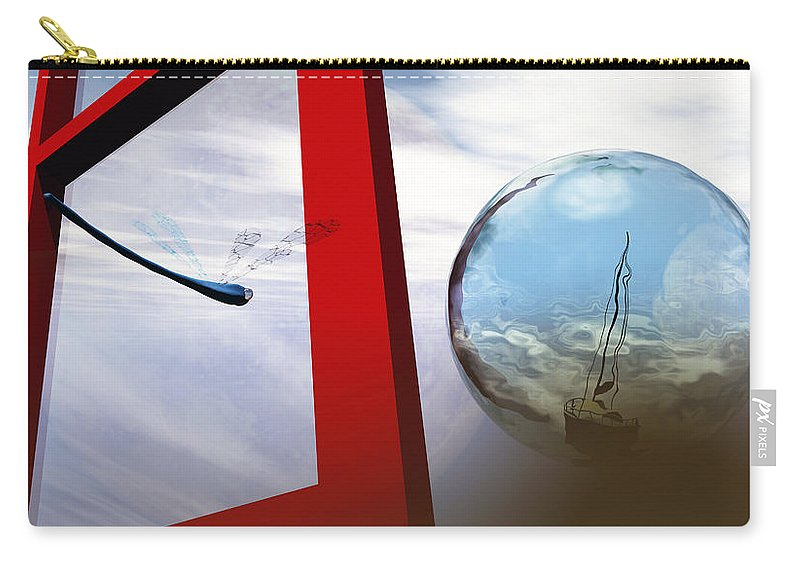Surreal Carry-all Pouch featuring the digital art Endless Voyage by Richard Rizzo