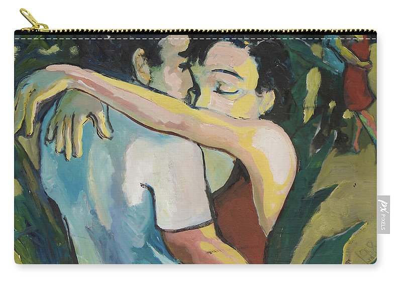 Couples Carry-all Pouch featuring the painting Enduring Love by Craig Newland