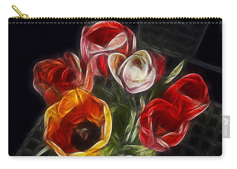 Tulip Carry-all Pouch featuring the photograph Energetic Tulips by Joachim G Pinkawa