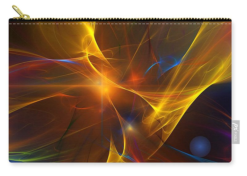 Fractal Carry-all Pouch featuring the digital art Energy Matrix by David Lane