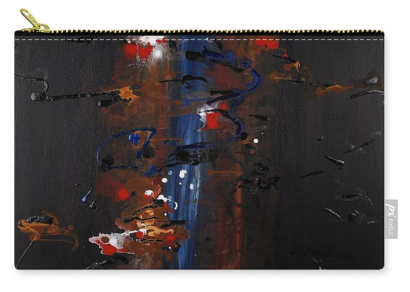 Black Carry-all Pouch featuring the painting Energy by Nadine Rippelmeyer