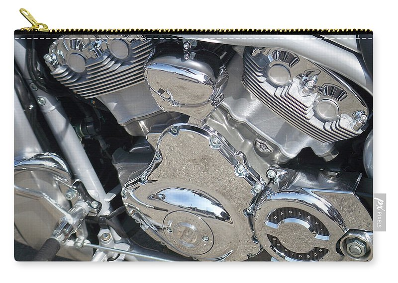 Motorcycle Carry-all Pouch featuring the photograph Engine Close-up 2 by Anita Burgermeister