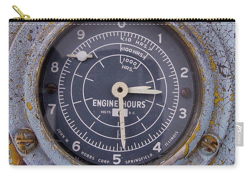 Gauge Carry-all Pouch featuring the photograph Engine Hours by Jeffery Ball