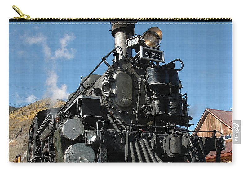 Train Carry-all Pouch featuring the photograph Engine Number 473 by Jerry McElroy