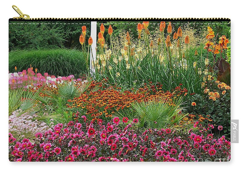 Daisy Carry-all Pouch featuring the photograph English Garden by Heather Lennox