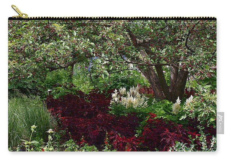 English Garden Assiniboine Park Winnipeg Carry-all Pouch featuring the photograph English Garden by Joanne Smoley