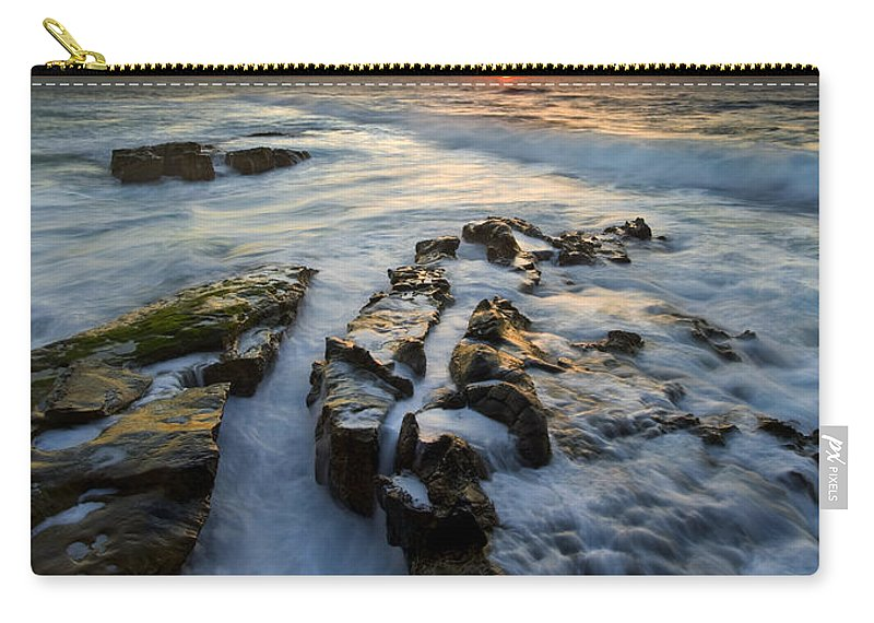 Sunset Carry-all Pouch featuring the photograph Engulfed by Mike Dawson