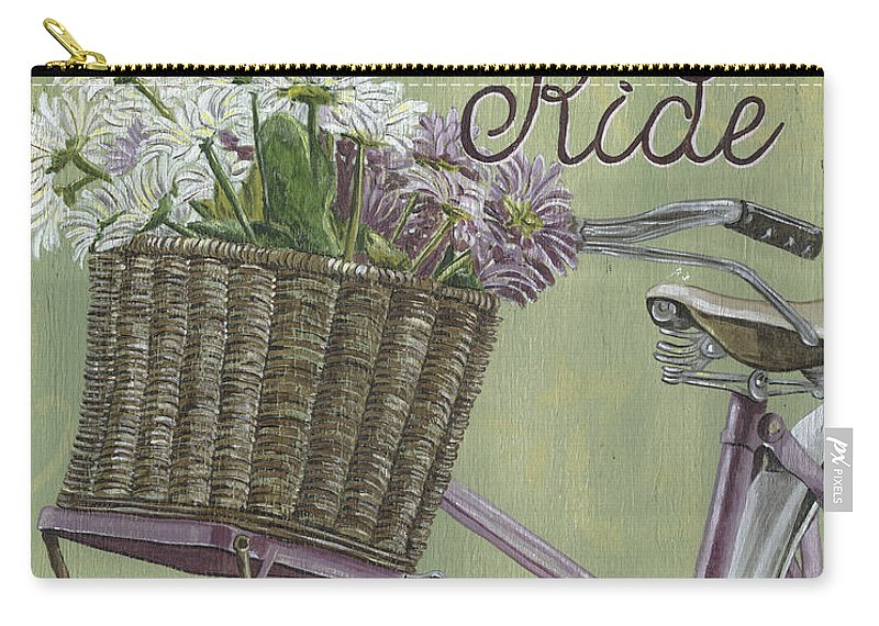 Bike Carry-all Pouch featuring the painting Enjoy The Ride by Debbie DeWitt