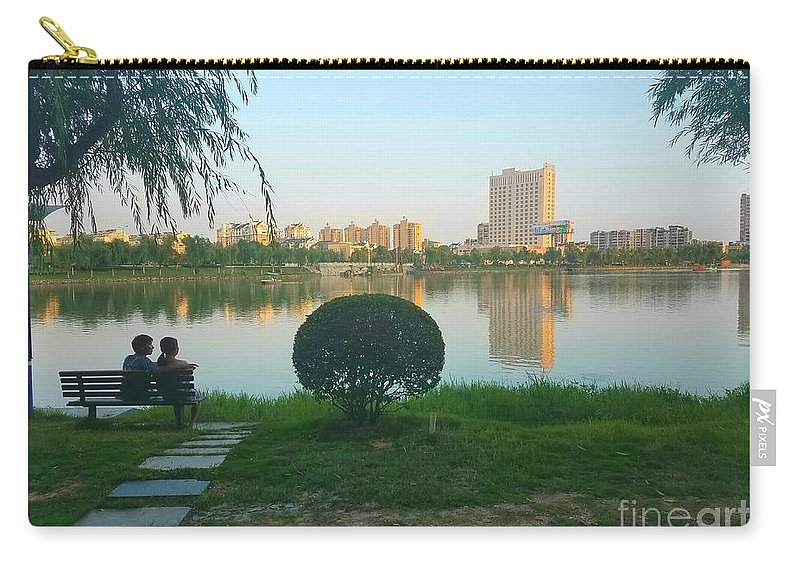 Sunset Carry-all Pouch featuring the photograph Enjoy The Sunset by Jane Powell