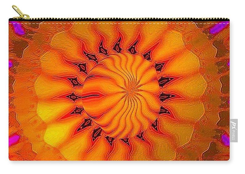 Sun Carry-all Pouch featuring the digital art Enlighten Me by Robert Orinski