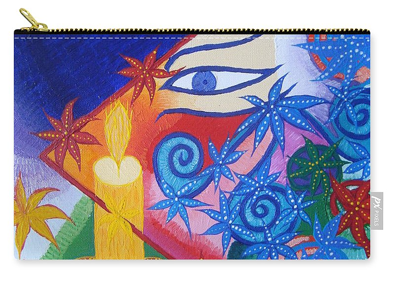 Abstract Carry-all Pouch featuring the painting Enlightenment by Joanna Pilatowicz