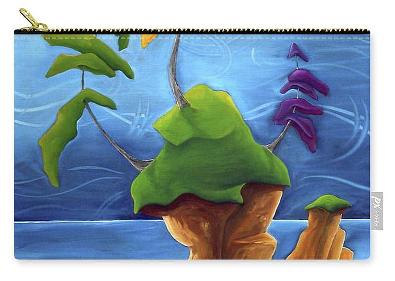 Landscape Carry-all Pouch featuring the painting Enraptured by Richard Hoedl