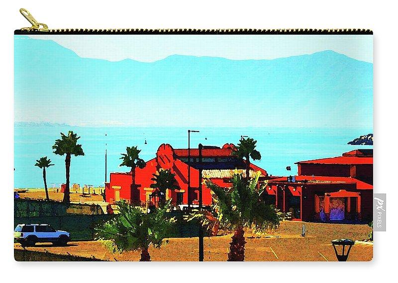 Ensenada Carry-all Pouch featuring the digital art Ensenada, Baja, Mexico by Ronald Irwin