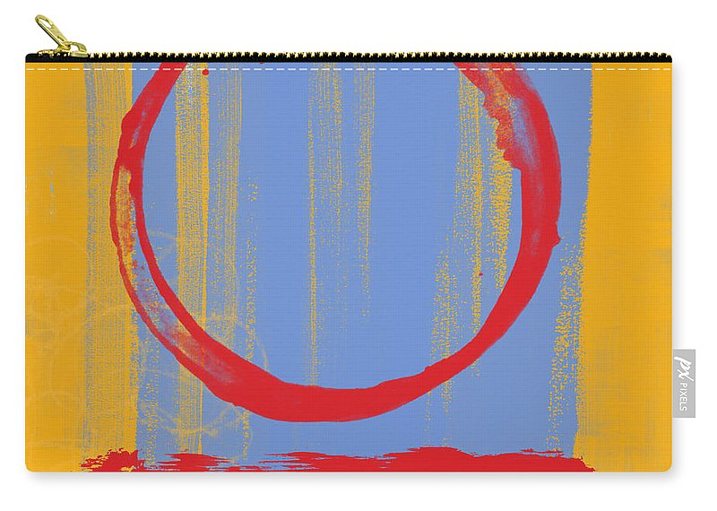 Red Carry-all Pouch featuring the painting Enso by Julie Niemela