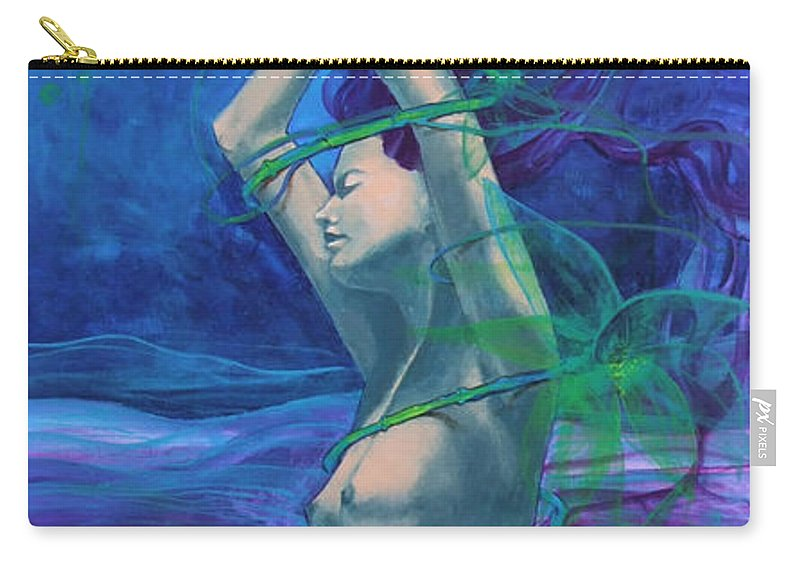 Art Carry-all Pouch featuring the painting Entangled In Your Love... by Dorina Costras