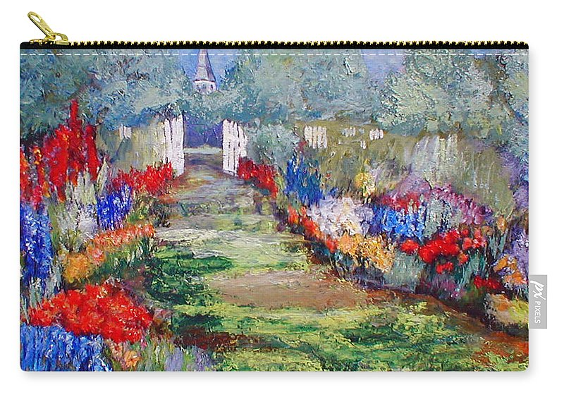 Landscape Carry-all Pouch featuring the painting Enter His Gates by Gail Kirtz