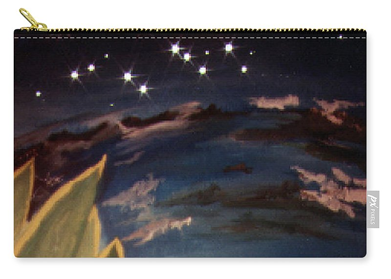 Surreal Carry-all Pouch featuring the painting Enter My Dream by Steve Karol