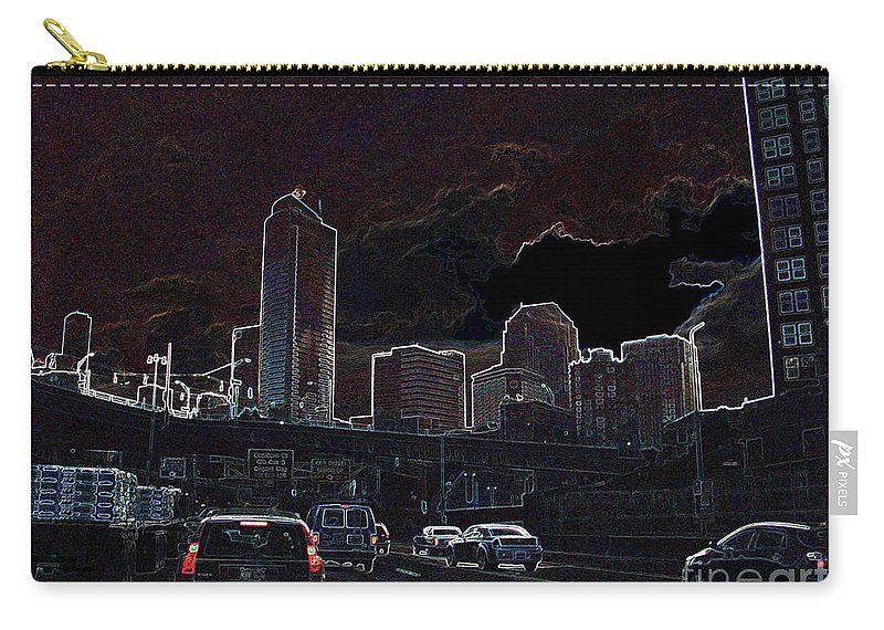 Seattle Carry-all Pouch featuring the photograph Entering The City by Ron Bissett