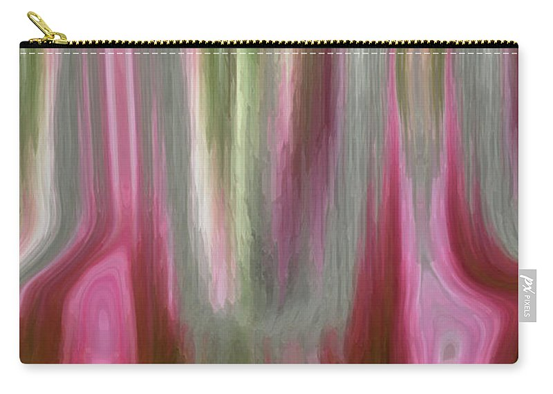 Abstract Art Carry-all Pouch featuring the digital art Entrance by Linda Sannuti
