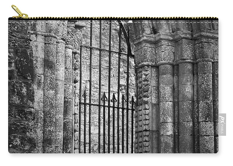 Irish Carry-all Pouch featuring the photograph Entrance To Cong Abbey Cong Ireland by Teresa Mucha