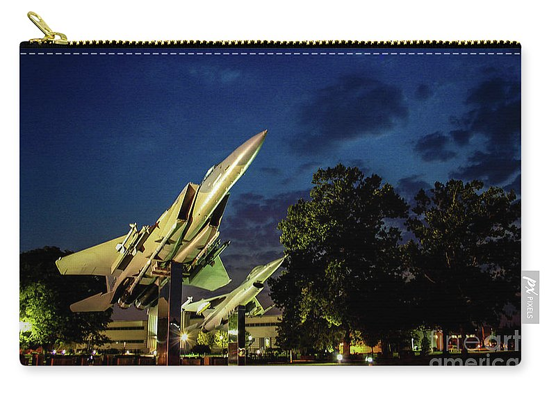 Wright Patterson Carry-all Pouch featuring the photograph Entrance Wright Patterson Afb by Tommy Anderson