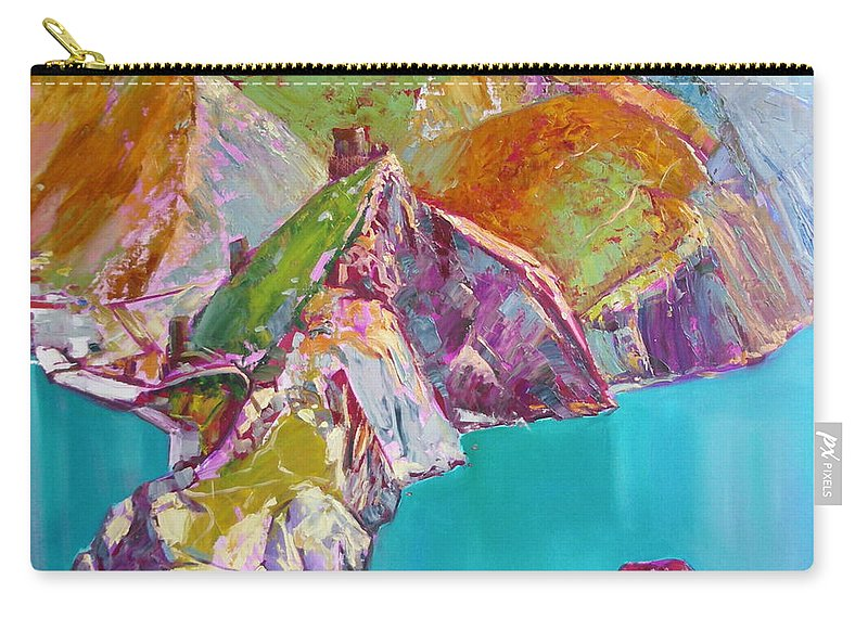 Ignatenko Carry-all Pouch featuring the painting Entry To Balaklaw by Sergey Ignatenko