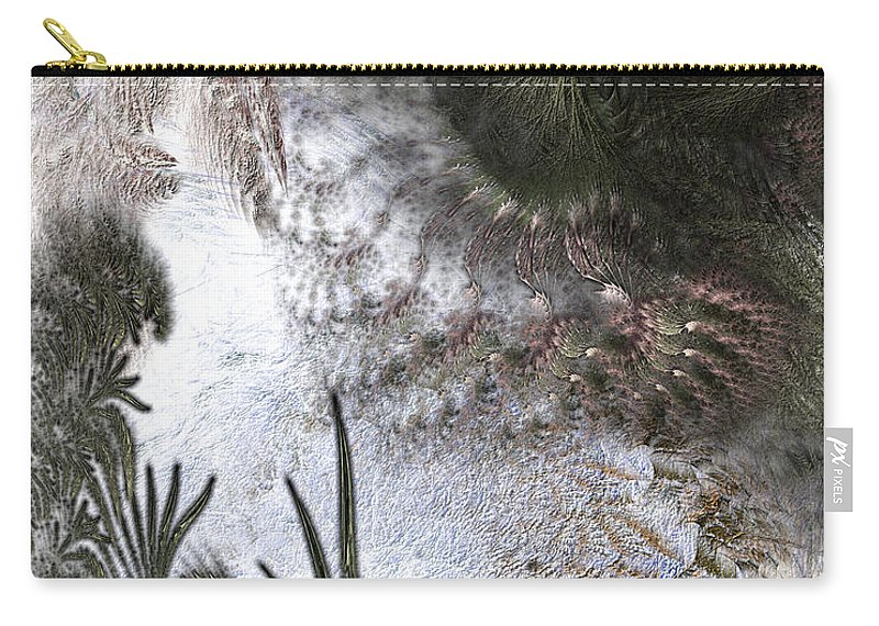 Abstract Carry-all Pouch featuring the digital art Environmental Transitions by Casey Kotas