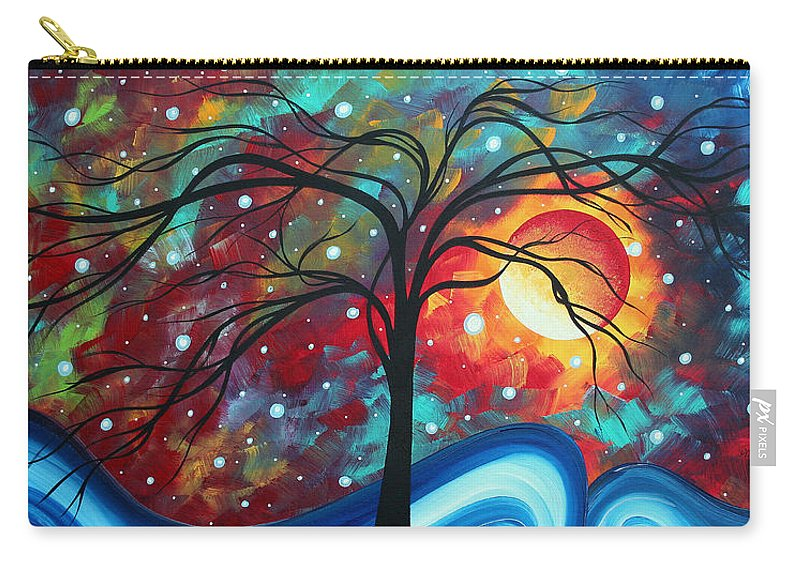 Original Carry-all Pouch featuring the painting Envision The Beauty By Madart by Megan Duncanson