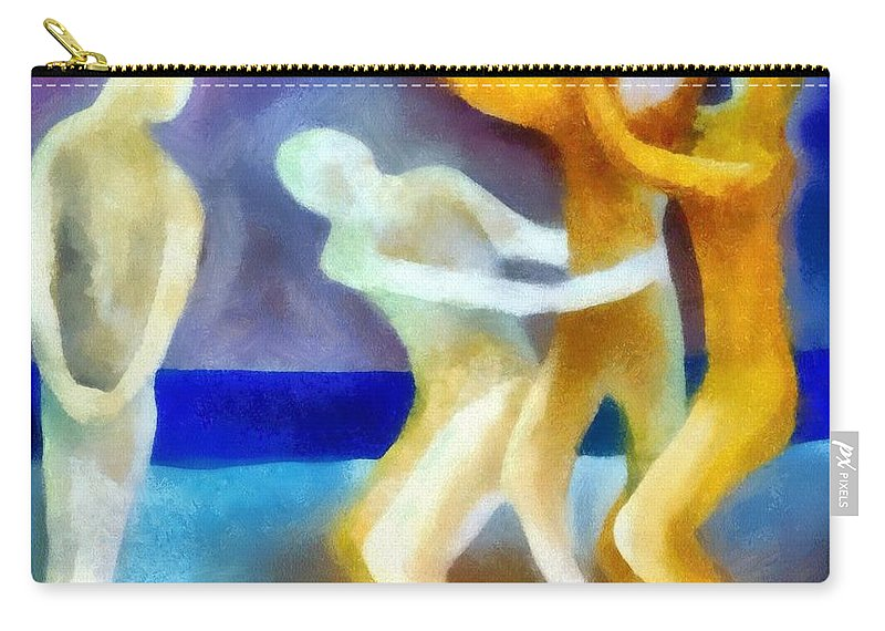 Envy Carry-all Pouch featuring the painting Envy by Michelle Calkins