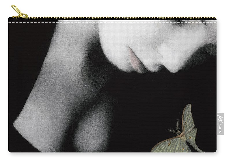 Woman Carry-all Pouch featuring the painting Ephemeral by Pat Erickson