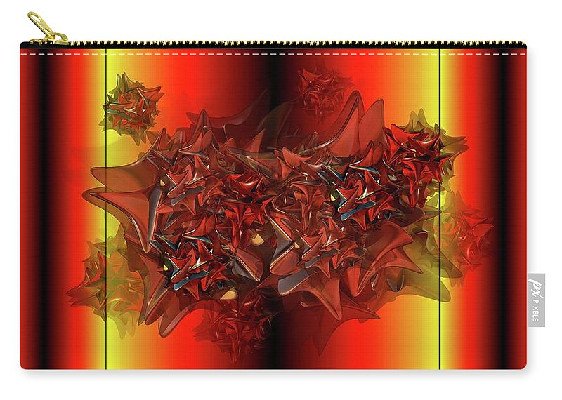 Things That Are Similar In Red Carry-all Pouch featuring the digital art Ephemeral by Ron Bissett