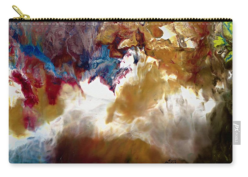 Back-country Skiing Carry-all Pouch featuring the painting Epic Nature by Ron Strand