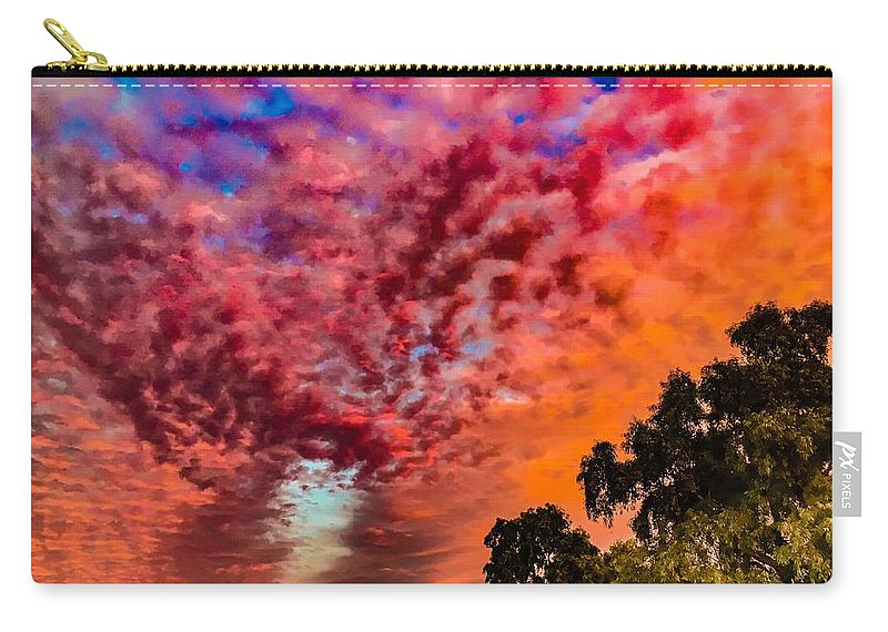 Sunset Carry-all Pouch featuring the photograph Epic Sunset by Chris Tarpening