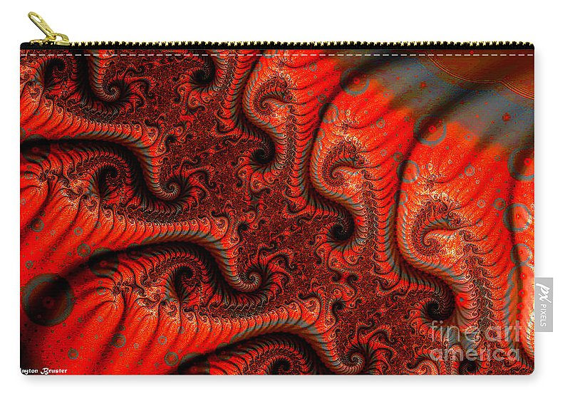 Clay Carry-all Pouch featuring the digital art Epidermal Emancipation by Clayton Bruster