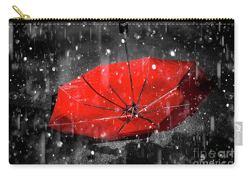 Red Carry-all Pouch featuring the photograph Epiphany by Jorgo Photography - Wall Art Gallery