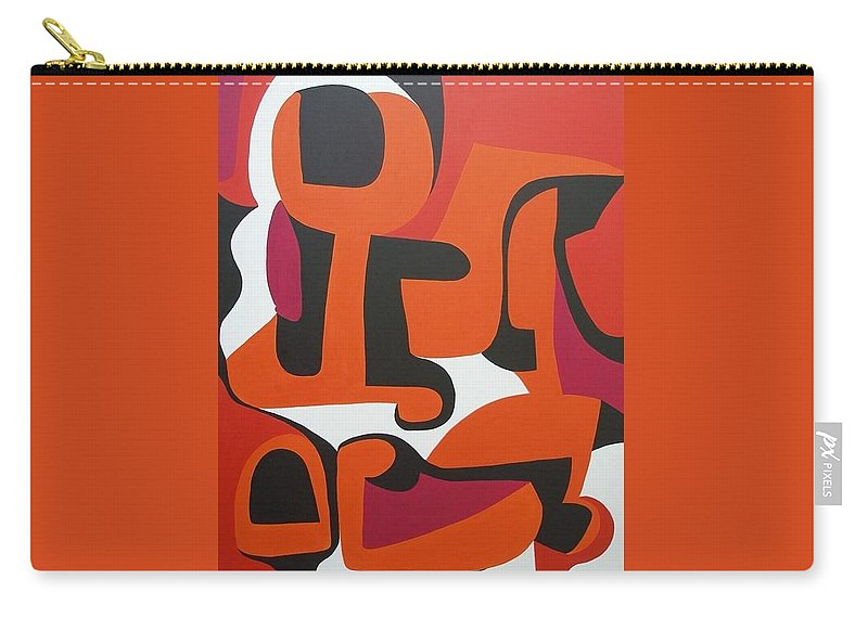 Orange Carry-all Pouch featuring the painting Epoch by Sue Wright