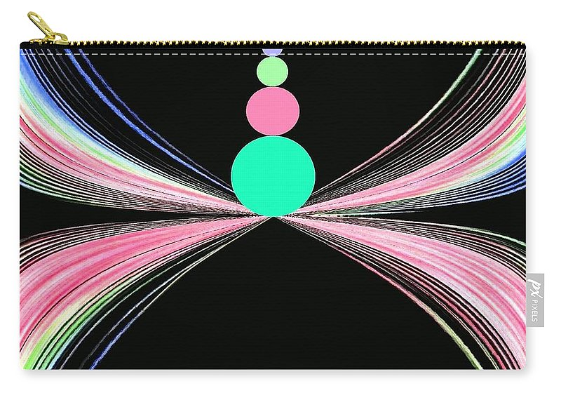 Abstract Carry-all Pouch featuring the digital art Equilibrium by Will Borden