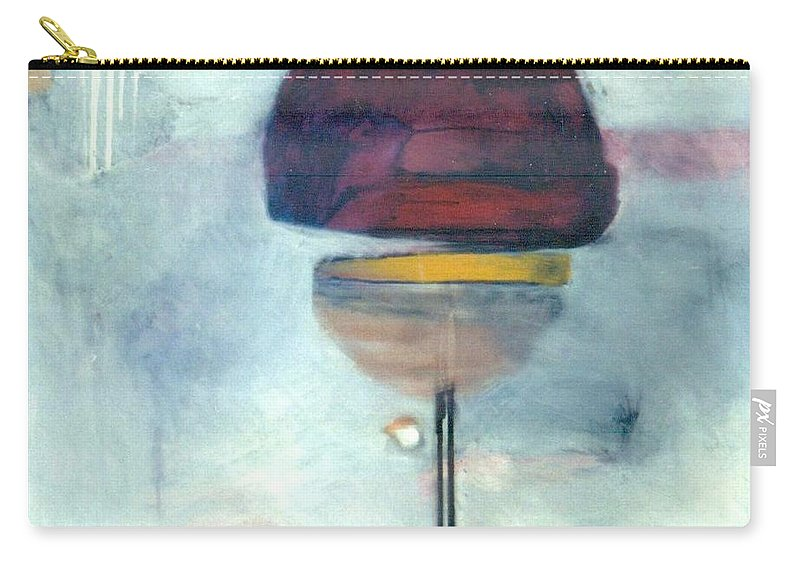 Abstract Carry-all Pouch featuring the painting Erev Tops Jump Shot by Marlene Burns