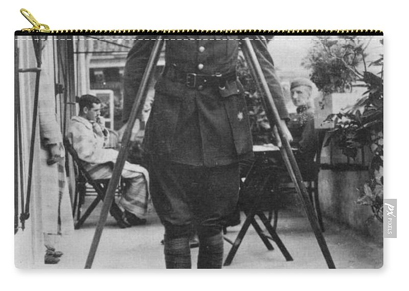 1918 Carry-all Pouch featuring the photograph Ernest Hemingway by Granger