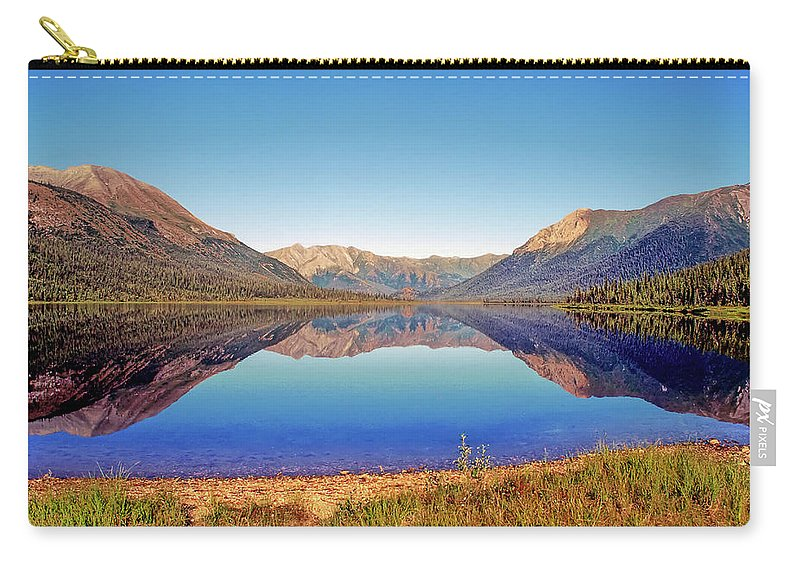 Alaska Carry-all Pouch featuring the photograph Ernie Lake by Gary Benson