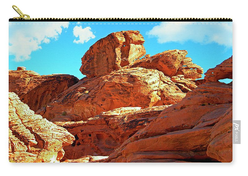 Frank Wilson Carry-all Pouch featuring the photograph Eroded Red Sandstone by Frank Wilson