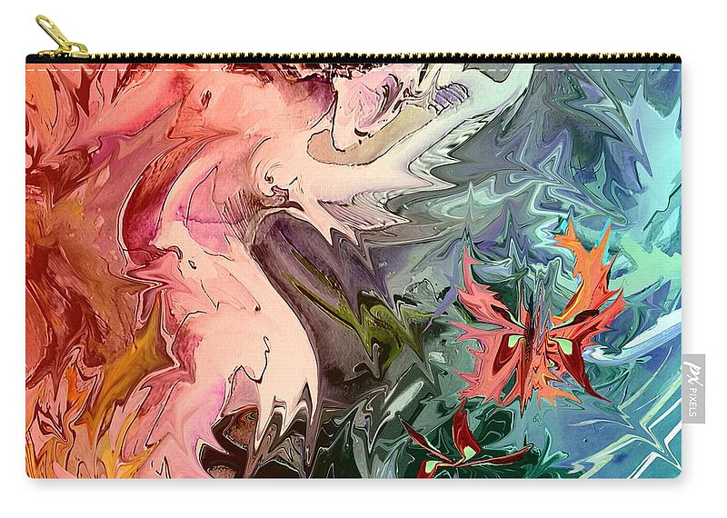 Miki Carry-all Pouch featuring the painting Eroscape 08 1 by Miki De Goodaboom
