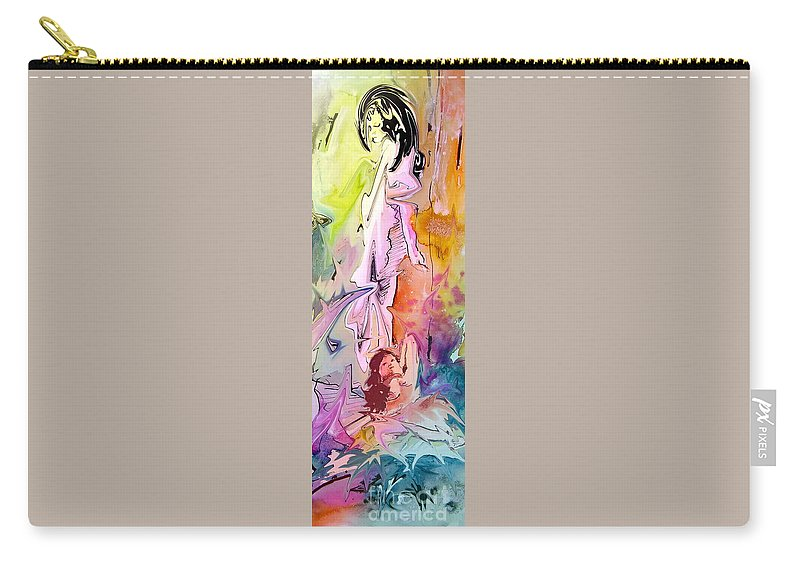 Miki Carry-all Pouch featuring the painting Eroscape 09 1 by Miki De Goodaboom