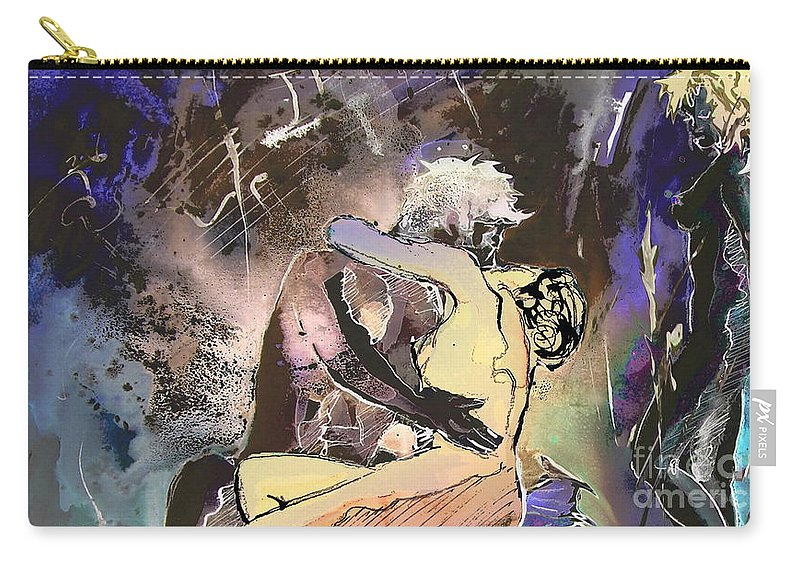 Miki Carry-all Pouch featuring the painting Eroscape 09 2 by Miki De Goodaboom